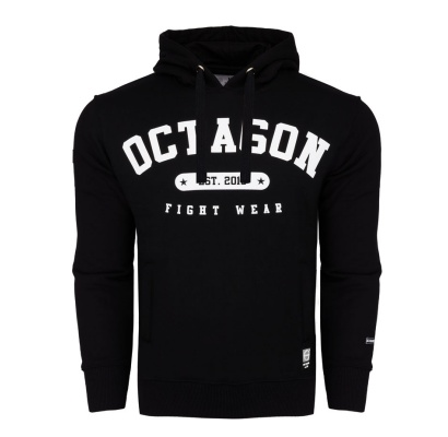 Bluza Octagon Basic Fight Wear est. 2010 czarna z kapturem