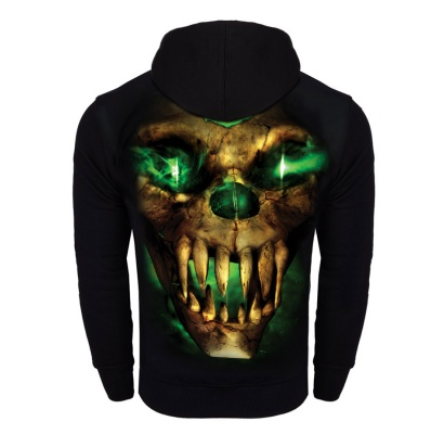 Bluza Octagon Green Demon z kapturem