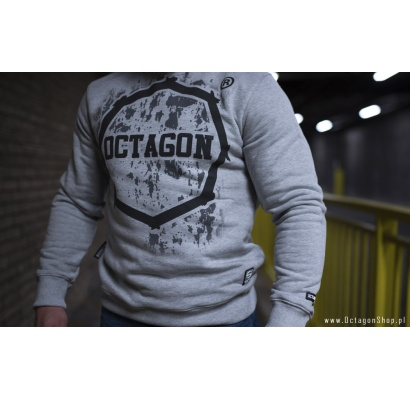 Bluza Octagon Polish Fight Wear szara bez kaptura