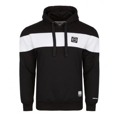 Bluza Octagon Small Logo black/white z kapturem