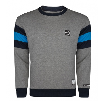 Bluza Octagon Small Logo graphite/blue bez kaptura
