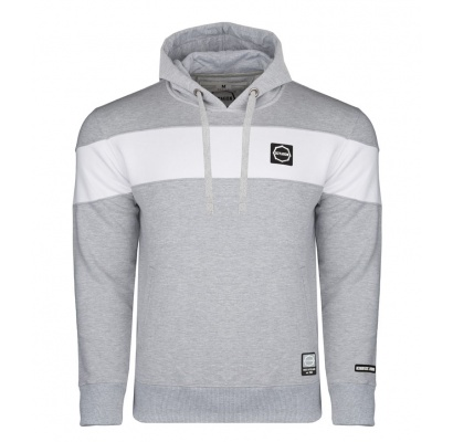 Bluza Octagon Small Logo grey/white z kapturem