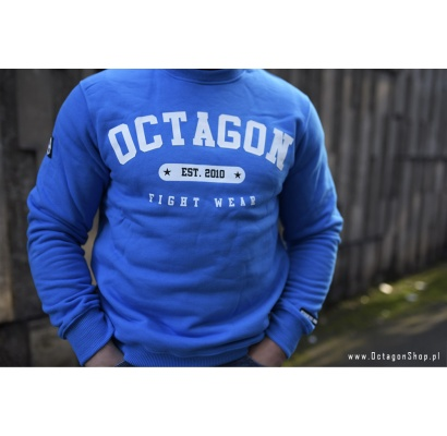 Bluza Octagon Basic Fight Wear est. 2010 niebieska bez kaptura
