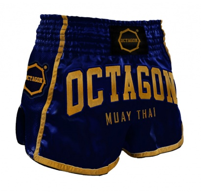 Spodenki Muay Thai Octagon Blue/Gold
