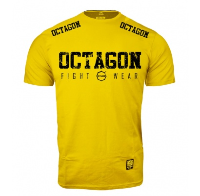 T-shirt Octagon Fight Wear 2018 żółty