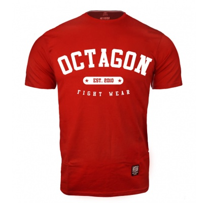 T-shirt Octagon Fight Wear est. 2010 czerwony