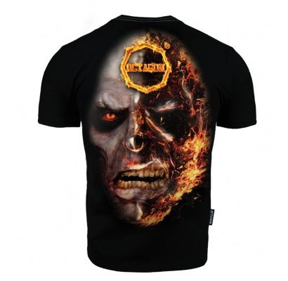 T-shirt Octagon In Fire