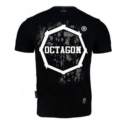 T-shirt Octagon Polish Fight Wear czarny