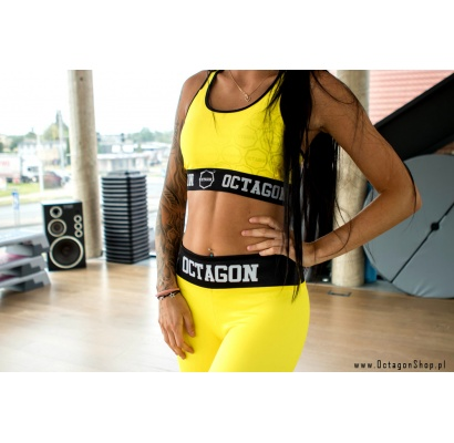 Top damski Octagon logo yellow