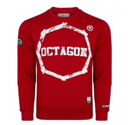 Bluza Octagon Logo Smash red bez kaptura