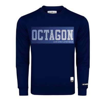 Bluza Octagon New Lines bez kaptura dark navy