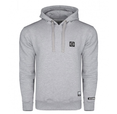 Bluza Octagon Small Logo grey z kapturem