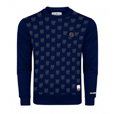 Bluza Octagon Types bez kaptura dark navy