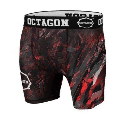 Spodenki kompresyjne Octagon Abstract Red